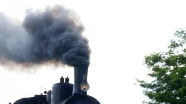 Smoke cloud of locomotive — Stockvideo