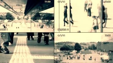 Surveillance monitoring of people — Stock Video