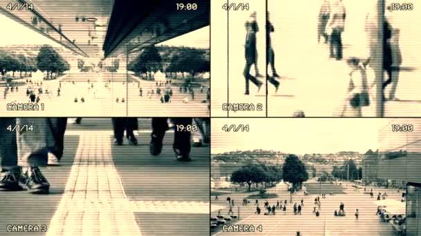 Control de vigilancia de las personas — Vídeo de stock