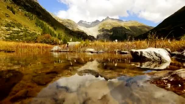 Paisaje del lago de la montaña — Vídeo de stock