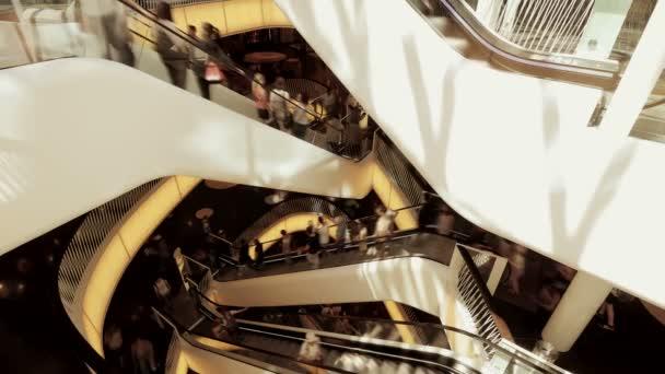 Customers in shopping center — Vidéo