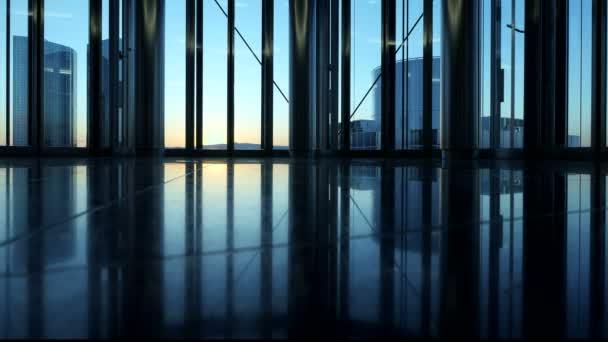 Interior edificio moderno — Vídeo de stock