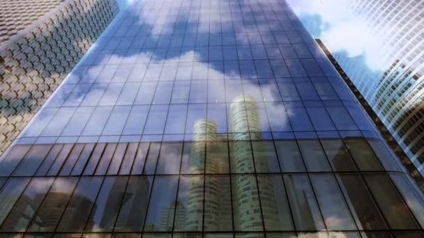 Verre des immeubles commerciaux — Vidéo