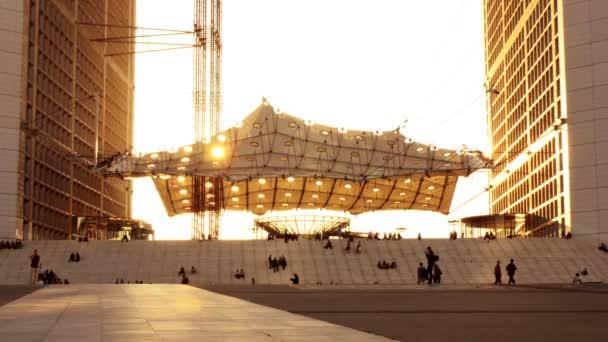 Modern architecture at sunset — Vidéo