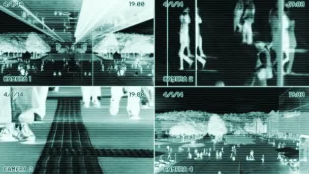 Vigilancia de personas caminando — Vídeo de stock