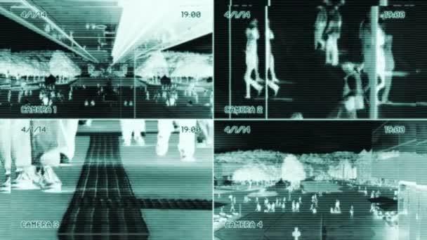 Surveillance of people walking — Vidéo