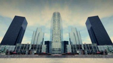 Futuristic city architecture — Stock Video