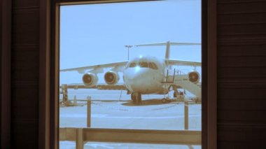 Terminal airport view — Video Stock