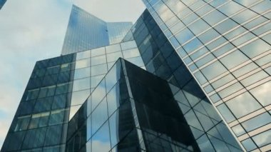 Business glass buildings — Stock Video