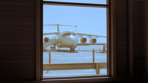 Vista de terminal Aeropuerto — Vídeo de stock