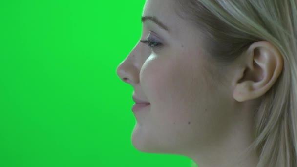 Portrait de jeune femme — Vidéo