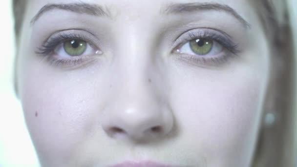 Woman eyes close up — Vidéo