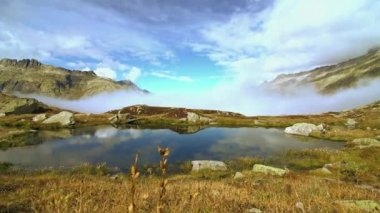 Mountain landscape with lake — Video Stock