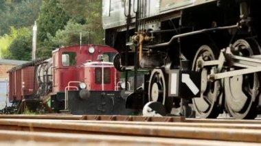 Steam train locomotive — Stock Video