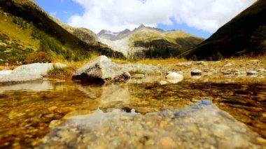 Mountain lake landscape panorama scenery — Stock Video