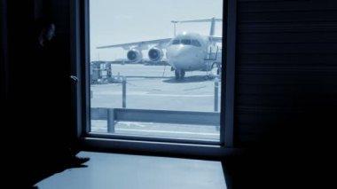 Passenger waiting at airport — Stock Video