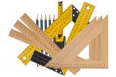 Measuring the angle and length — Stock Photo