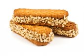 Cookies with nuts — Stock Photo