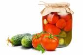 консервированные овощи — Стоковое фото