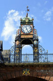 Eastgate clock tower in Chester, England, UK — Stock Photo