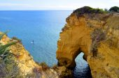Vale Do Olival Beach Rock formation — Стоковое фото
