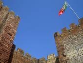 Silves castle walls  in the Algarve, Portugal — Stockfoto