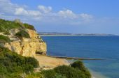 Cova Redonda Beach, Armacao De Pera, Algarve, Portugal — Photo