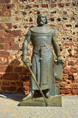 A statute of Sancho I King of Portugal — Stock Photo