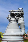 Cape Canaveral, Florida, USA - May 6, 2015: Apollo F1 Engine on display at Kennedy Space Centre — Stock Photo