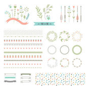 Floral decor set — Stock Vector
