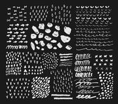 Collection of different homemade textures — Stock Vector