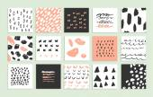Set of 15 creative cards — Stock Vector