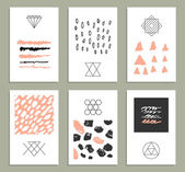 Set of 6 creative cards — Stock Vector