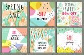 Spring sale design — Stock Vector