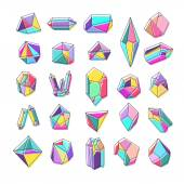 Set of crystals — Stock Vector
