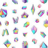 Nahtlose Muster mit Kristallen — Stockvektor