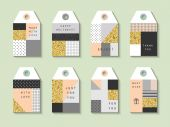 Collection of  Hang Tags — Stock Vector