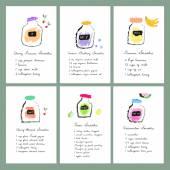 Healthy fresh smoothies recipes — Stock Vector