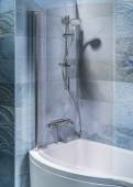 Interior bathroom with tub and shower — Stock Photo