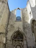 Carmo convent in lisbon — Stock Photo