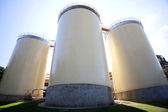 Industrial agriculture silo — Stock Photo