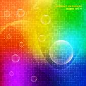 Multicolor abstract background of bubbles. — Stock Vector