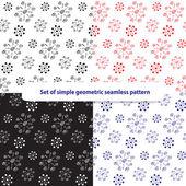 Set of simple abstract geometric seamless pattern — Stok Vektör