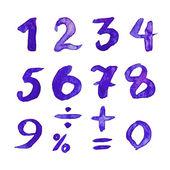 Blue figures — Stock Vector