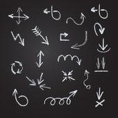 Arrows, lines, pointers - hand drawn. — Cтоковый вектор