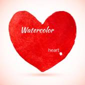 акварель окрашенные красные сердца — Cтоковый вектор