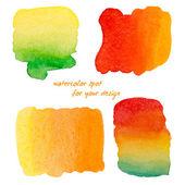 Watercolor spots for design elements — Stock Vector