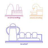 Logo industrial plant — Stock Vector