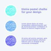 Design elements pastel chalks — Vecteur