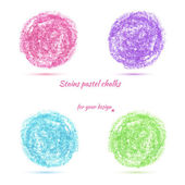 Design elements pastel chalks — Wektor stockowy